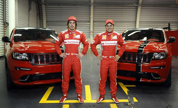 Jeep Grand Cherokee SRT8 delivered to Scuderia Ferrari