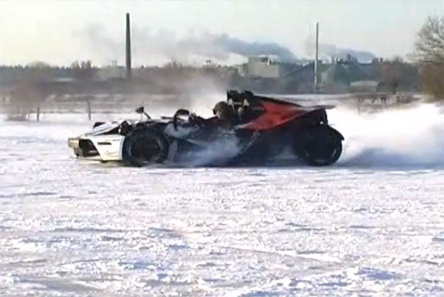 KTM X-Bow ice racing