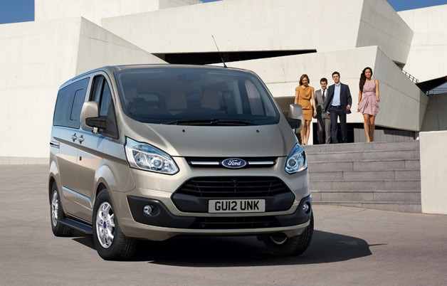 2012 Ford Tourneo Custom van - front three-quarter view