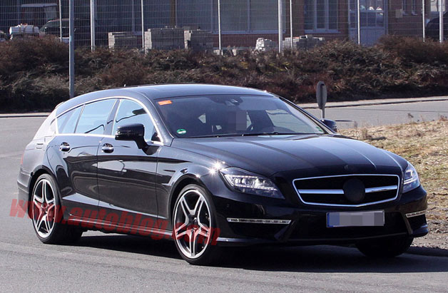 Mercedes-Benz CLS63 AMG Shooting Brake spy shots