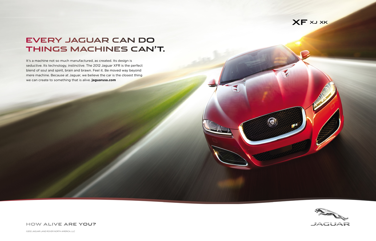 print ads and new logo for jaguar s alive campaign photo