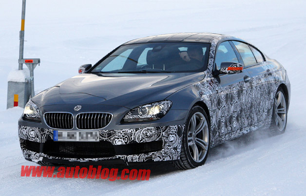 BMW M6 Gran Coupe caught testing - subtle camouflage