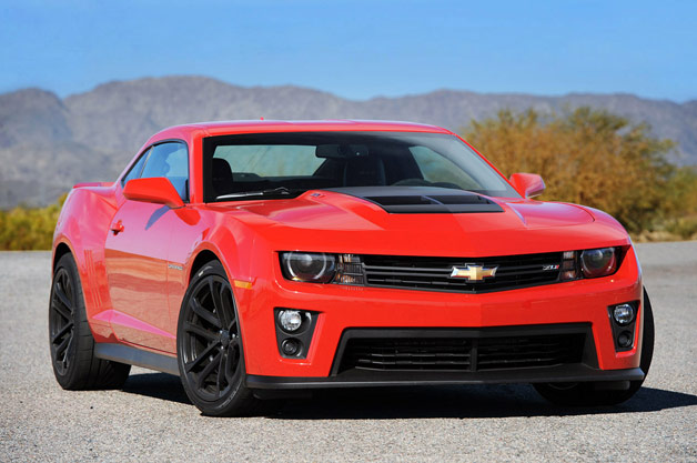2012 Camaro ZL1 front three-quarter view, red
