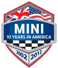 Mini USA 10 year anniversary graphic