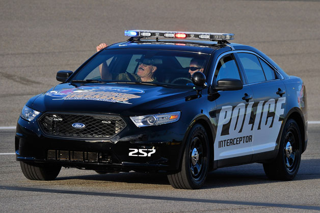 2013 Ford Taurus Police Interceptor undergoing testing
