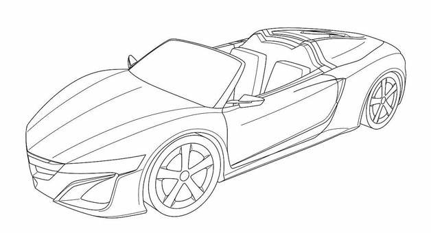 2014 Acura NSX Convertible patent drawing