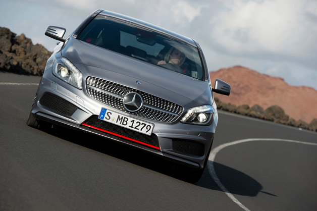 2012 Mercedes-Benz A-Class dynamic cornering photo