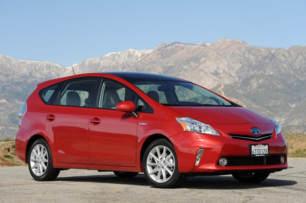 2012 Toyota Prius V - front three-quarter view