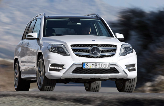 2013 Mercedes-Benz GLK - front three-quarter view, dynamic