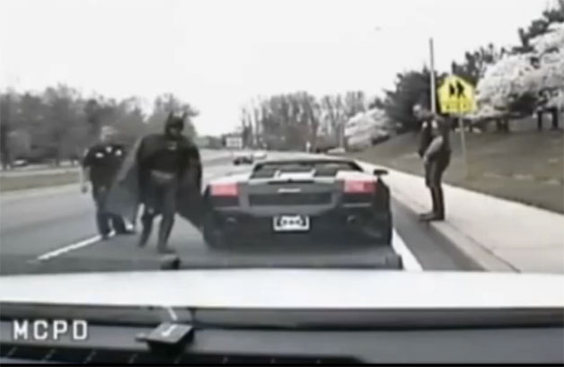Batman pulled over in Maryland
