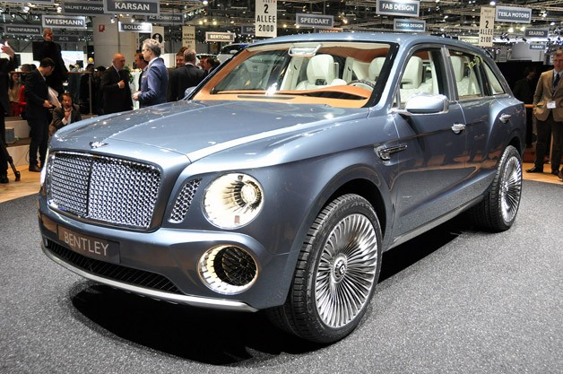 Bentley EXP 9 F concept live at Geneva Motor Show reveal