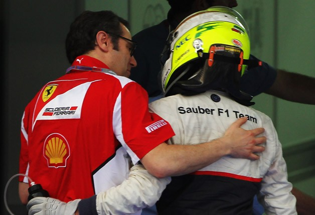 Stefano Domenicali and Sergio Perez