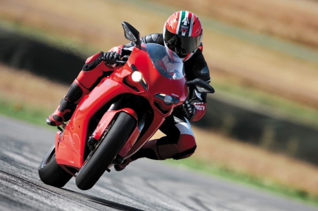 Ducati on track