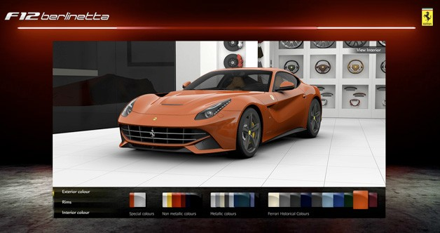 2012 Ferrari F12 Berlinetta configurator screencap