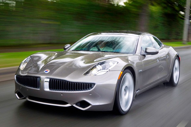 2012 Fisker Karma in motion