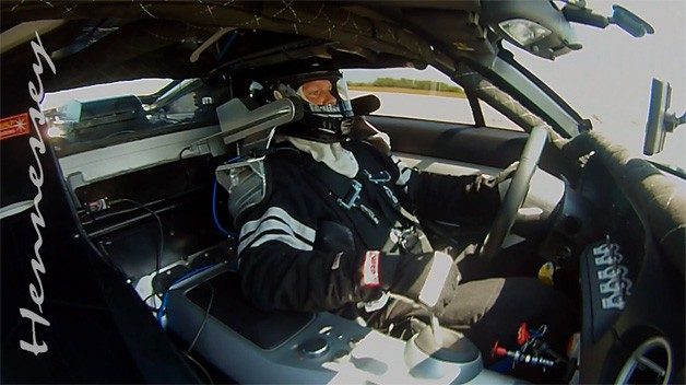 Sean Kennedy driving Mark Heidaker's Hennessey Ford GT