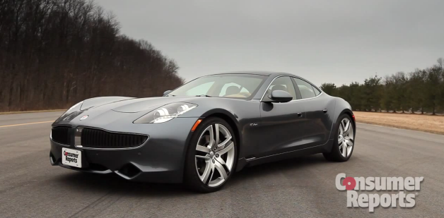 Consumer Reports' Fisker Karma - front three-quarter view