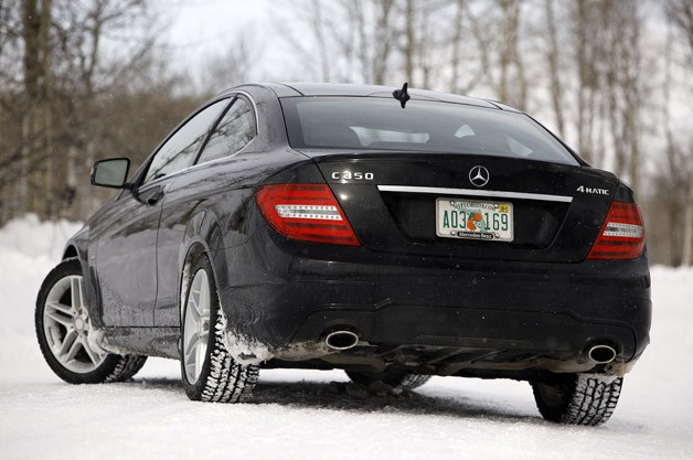 2012 Mercedes-Benz C350 4Matic rear 3/4 view