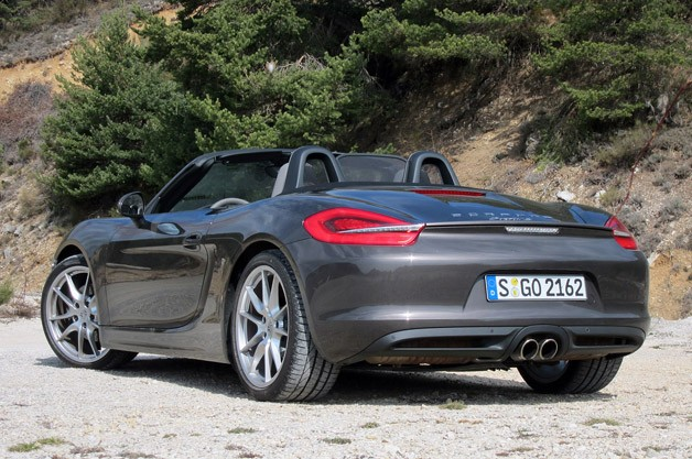 2013 Porsche Boxster S rear 3/4 view