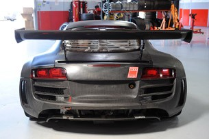 GMG Audi R8 LMS rear 3/4 view