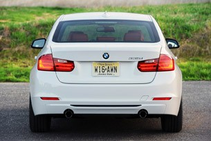 2012 BMW 335i rear view