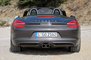 2013 Porsche Boxster S rear view