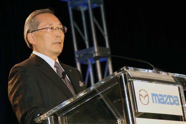 Mazda president and CEO Takashi Yamanouchi