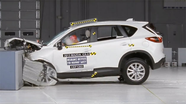 IIHS 2013 Mazda CX-5 crash test
