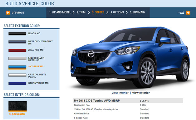 Mazda CX-5 configurator