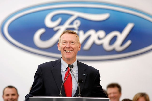 Ford CEO Alan Mulally looking happy