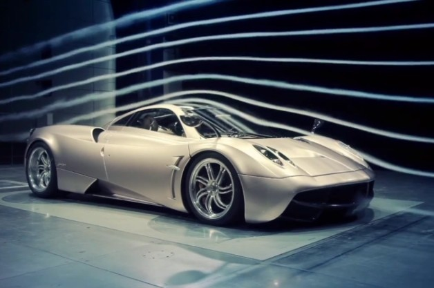 Pagana Huayra wind tunnel