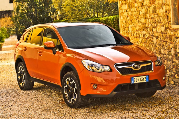 2012 Subaru XV Crosstrek - orange - front three-quarter view