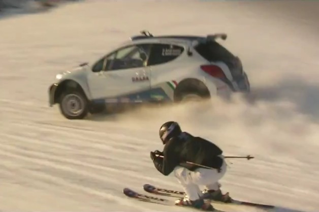 top gear italy peugeot downhill <i>Top Gear</i> puts Peugeot 207 rally car up against downhill skier in Italy