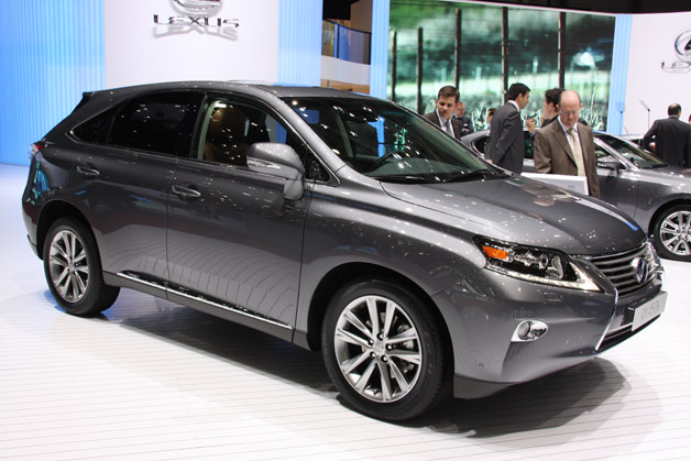 2013 Lexus RX - front three-quarter view, gray