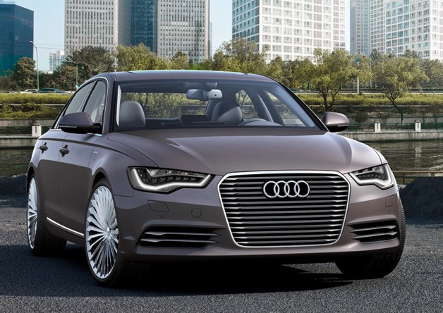 Audi A6 L e-tron Concept - tight three-quarter view