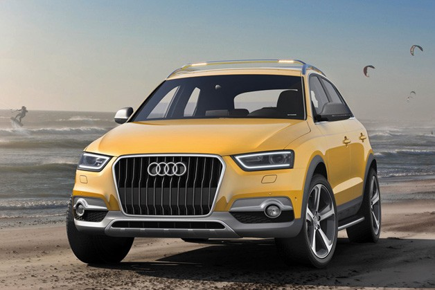 Audi Q3 Jinlong Yufeng by the seashore - front three-quarter view