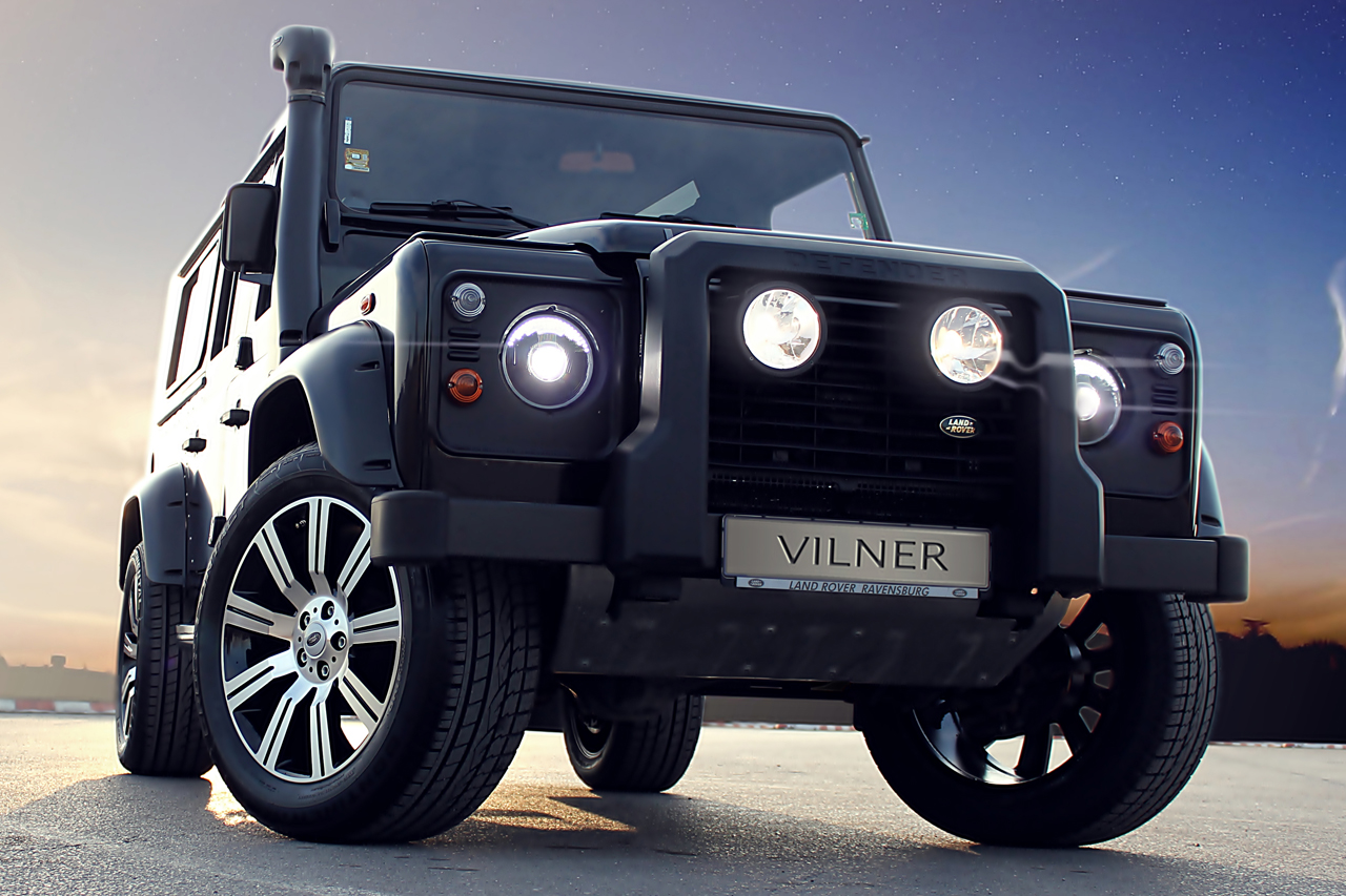 Jeep Certified Pre-Owned >> Vilner adds wood paneling to Land Rover Defender - Autoblog