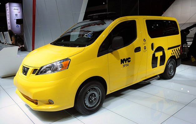 2014 Nissan NV200 Debut Taksi tinggal di New York Auto Show
