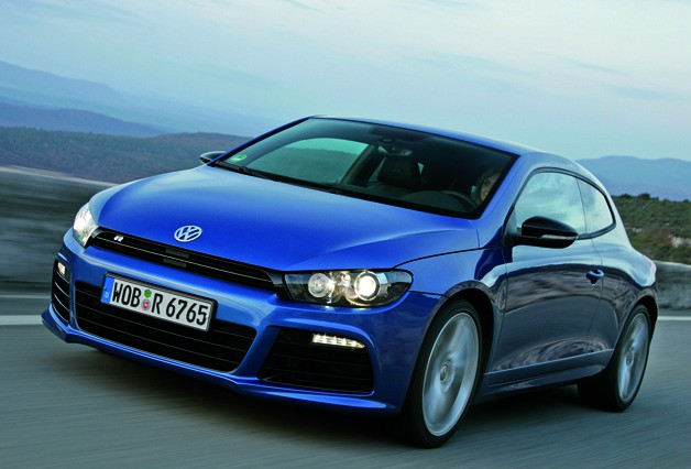 Volkswagen Scirocco R - dynamic front three-quarter shot