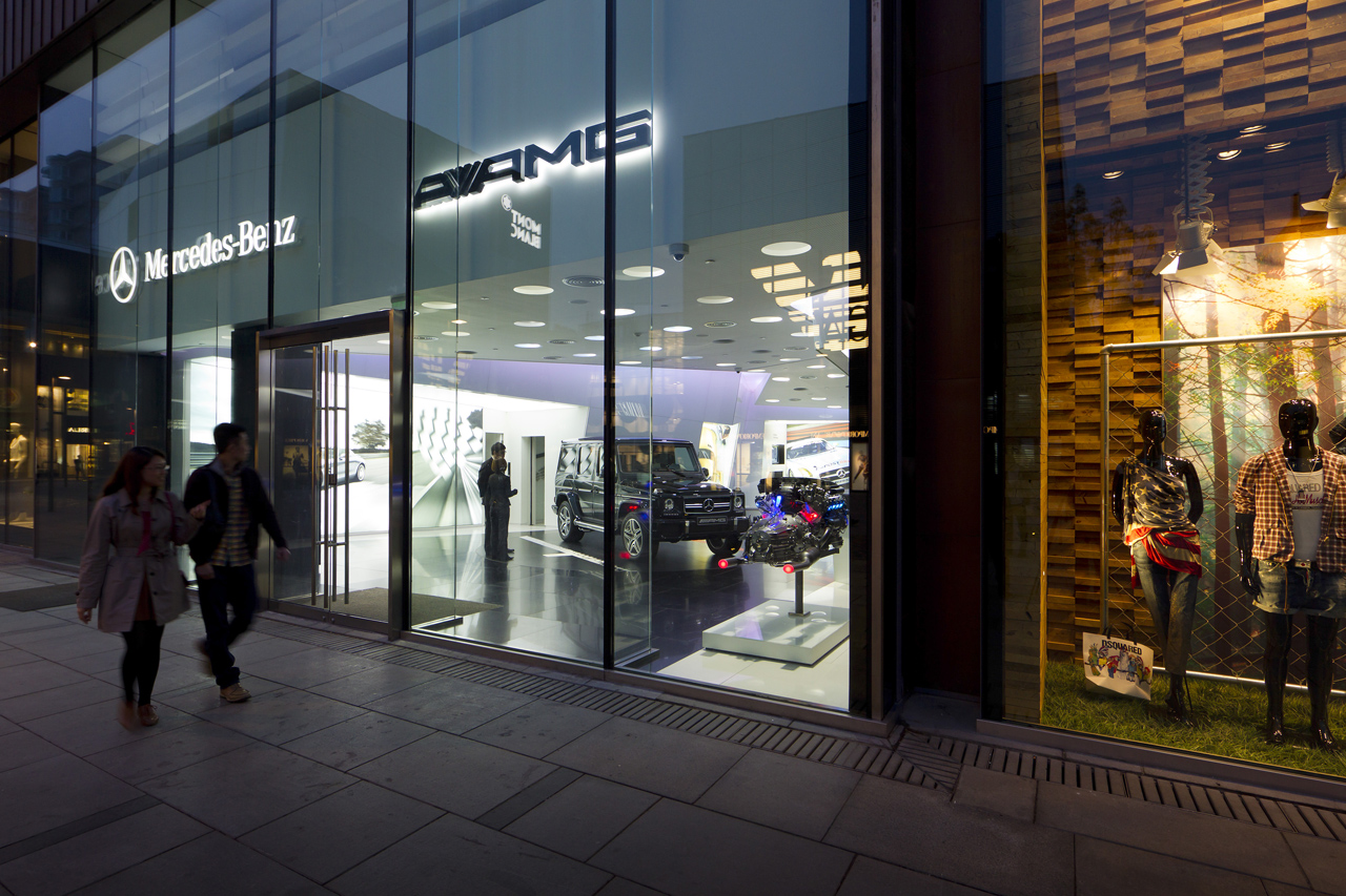 Mercedes benz opens world 39 s first amg only dealership in for Mercedes benz shop online