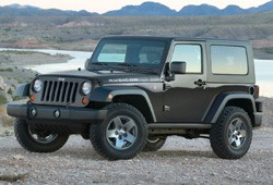 2010 Jeep Wrangler Rubicon two-door - front three quarter view