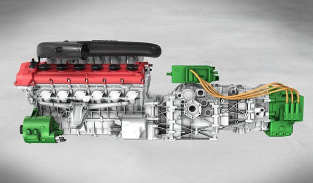 Ferrari HY-KERS V12 engine - static preview image