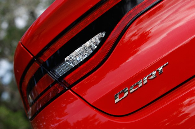2013 Dodge Dart taillamp closeup