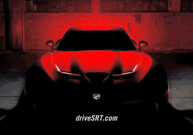 2013 SRT Viper teaser - dead on view