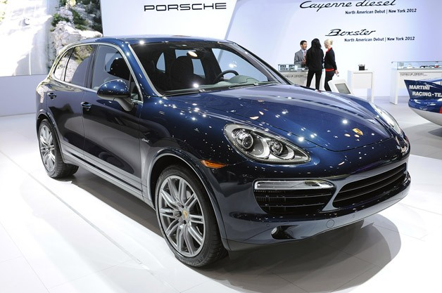 2013 Porsche Cayenne Diesel live unveiling at New York Auto Show