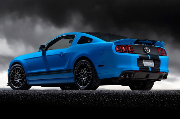 2013 Ford Shelby GT500 - rear three-quarter static view in blue
