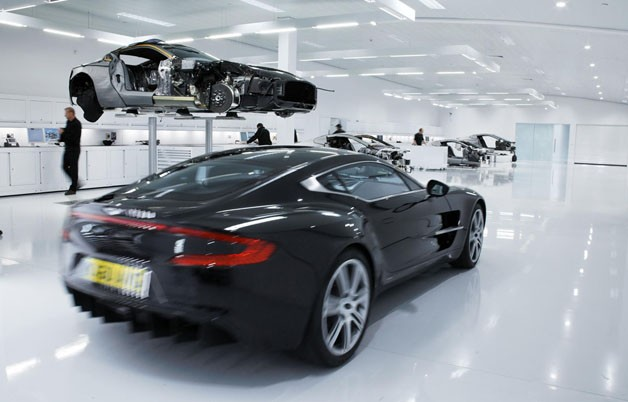 Aston Martin One-77 production line