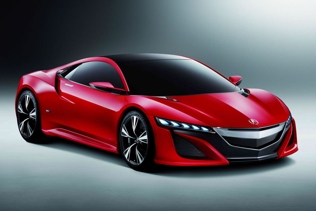 Acura NSX Concept in red - front three-quarter view