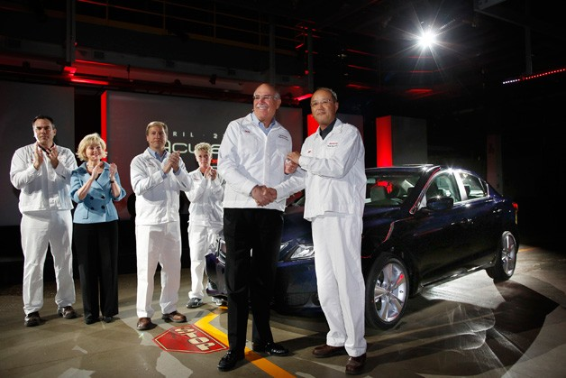 First 2013 Acura ILX rolls off the line