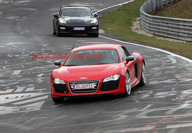 Audi R8 E-Tron caught lapping at the Nrburgring